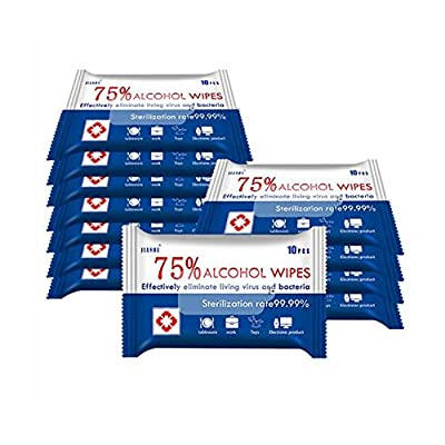 6 Pack Portable Wet Wipes, Soft Disinfection Wipes for All-Purpose Cleaning Wipes(60PCS) by JH