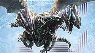 #1 - Blue Eyes Dragon PLAYMAT, Anime Custom Play MAT | Size 23-7/8-Inch x 13-1/2-Inch (AArt)