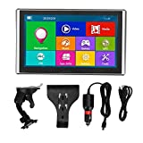 GPS Navigator, 7in HD USB 2.0 Touchscreen 256MB RAM 8G ROM Car FM GPS Navigation with World Map