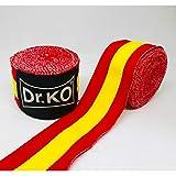 Dr. KO Vendas Boxeo, Kick Boxing, MMA, Muay Thai. Cinta ELÁSTICA Mano MUÑECA MMA Bandera ESPAÑA (4,5 Metros)