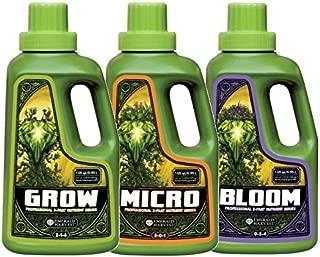 Emerald Harvest Grow, Micro, Bloom Fertilizer Combo, 0.95 L