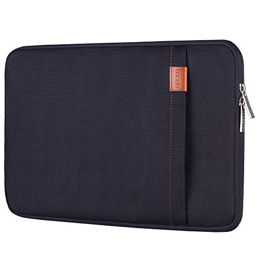 Lacdo 13.3 Inch Laptop Sleeve for 13 Inch MacBook Air | MacBook Pro Retina 2012 - Early 2016 | 12.9 Inch iPad Pro | Surface Book | 360° Protective HP Dell ASUS Chromebook Case, Water Repellent, Black