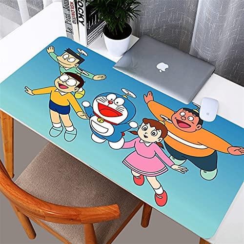 PENGYMY Alfombra de Escritorio Doraemon 800x300mm Gaming Grande Mouse Pad Mapa del Mundo Mapa de Goma Natural Edge XL Mouse Pad Juego Teclado Estera de Escritorio para computadora