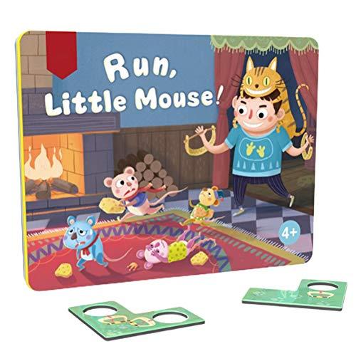 ZIXIXI Juego de mesa de rompecabezas de madera lógica, juego de mesa de rompecabezas lógica, juego de mesa a juego, para niños a partir de 3 años, incluye pinzas coloridas