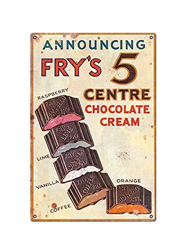 Boggevi Kells Frys 5 crema cioccolato vintage classico annuncio cucina giardino garage metallo parete cartello garage giardino capannone targa metallo metallo poster regalo 200 mm x 300 mm -TPH0015