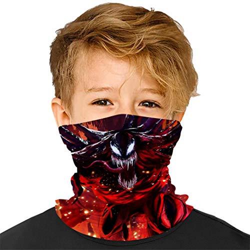 SBXDIO Ven-om Kids Neck Gaiter Face Mask Bandanas Mouth Cloth Cover Balaclavs Tube Headband for Dust Sun Protection