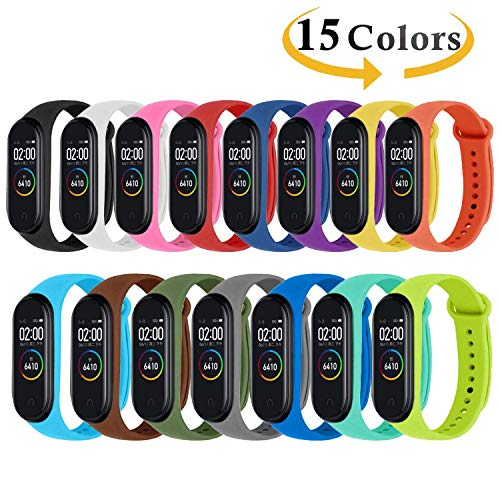 Monuary 15 Piezas Correa Xiaomi Mi Smart Band 4