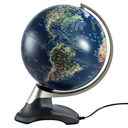 YONGMEI Elektrische Rotary Stereo Geprägte Globus Globale Dekoration Büro Handwerk Schreibtisch Dekoration Lernspielzeug Geschenke (Farbe : A)