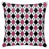 ADONINELP Almohada Decorativa Cuadrada,patrón de Cuadros...