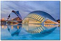 BEI YU MAN.co スペイン科学芸術都市バレンシアジグソーパズル大人用キッズ1000ピース木製パズルゲームギフト用家の装飾特別な旅行のお土産