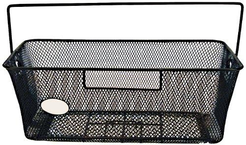 FISCHER Gepäckträgerkorb für Schultaschen, werkzeuglose Montage, schwarz