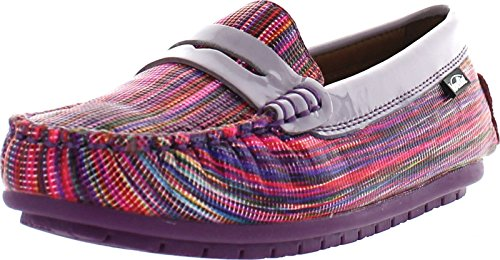 Venettini Girls 55-Randy Loafers Shoes,Purple Wave/Lilac,28