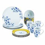 Paula Deen Dinnerware 16-Piece Porcelain Stoneware Dinnerware Set, Spring Prelude
