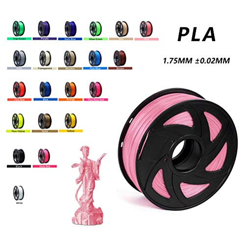 LYRWISHPB 3D Printer Filaments PLA Plus Printer Filament 1.75mm, 3D Printing Filament with Build Surface, 1kg Spool(2.2lbs), Dimensional Accuracy +/- 0.02 mm (Color : Skin)