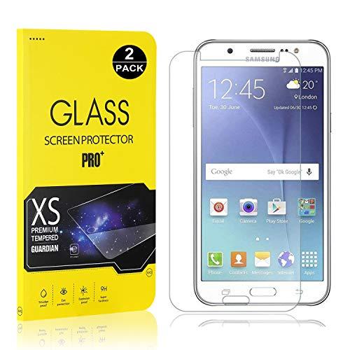 Bear Village® Displayschutzfolie für Galaxy J7 2016, 9H Hart Schutzfilm aus Gehärtetem Glas, Ultra klar Displayschutz Schutzfolie für Samsung Galaxy J7 2016, 2 Stück