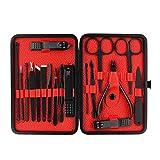 Healifty Manicure Pedicure Kit 18PCS - Set Tagliaunghie, Strumenti per Manicure, per Toele...