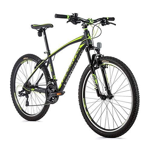 26 Zoll Leader Fox MXC Gent Fahrrad MTB 21 Gang Shimano V-Brake 46 cm Grau Grün