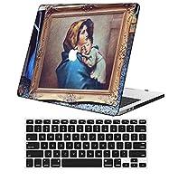 YixiuGG 切り抜きデザインプラスチック製ウルトラスリムライトハードケースキーボードカバー互換MacBook Air 13インチ2018-2019リリース、RetinaディスプレイタッチID、モデルA1932、油絵 0121