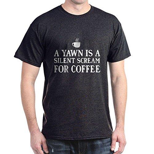"""CafePress Baumwoll-T-Shirt """"A Yawn is A Silent Scream"""" Gr. M, anthrazit"""