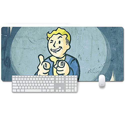 Fallout 76 XXL Anime Alfombrilla para ratón 900 x 400 mm - Speed Gaming Mousepad - Mouse Pad para Ordenador - 3mm Goma Antideslizante, para Gamers Ordenador, PC y Laptop, Q