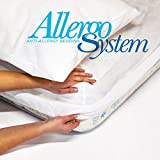 Allergosystem - Juego antiácaros de Viaje con Funda de colchón de 170 x 200 x 20 cm y Funda de...