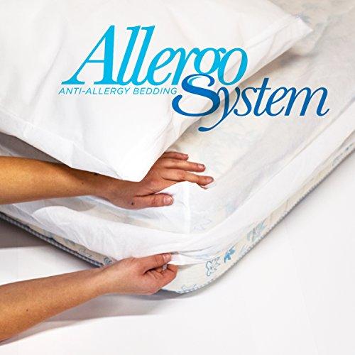 Allergosystem Set Antiacaro da Viaggio Nuvola coprimaterasso, 90x200x20 e copricuscino, 50x80, 100% Polipropilene, 90x200x20cm