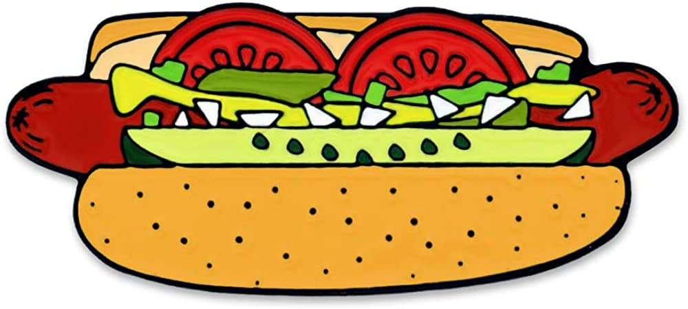 PinMart Hot Dog Chicago Style Food Cool Enamel Lapel Pin