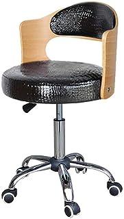 PENGJIE Silla giratoria Silla giratoria para computadora Silla de Escritorio de Oficina de Estudio de Altura Ajustable Respaldo para Silla de casa/Oficina/Estudio