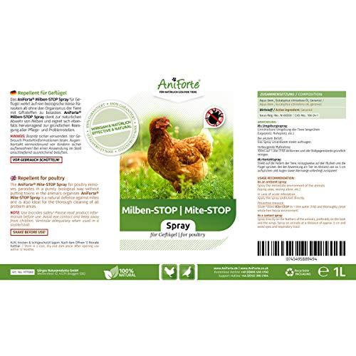 AniForte Milben-Stop Spray 1 Liter – Naturprodukt für Hühner - 2