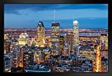 Poster Foundry Montreal Kanada City Skyline bei Dämmerung