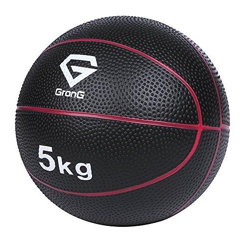 GronG(グロング) メディシンボール 5kg トレーニングマニュアル付き(島袋好一トレーナー監修) 非バウンドタ...