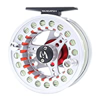 M MAXIMUMCATCH Maxcatch ECO Pre-Loaded Fly Fishing Reel Aluminum Body with Fly Line, Backing, Leader(3/4wt 5/6wt 7/8wt) (Silver ECO Reel with Line, 3/4 wt)