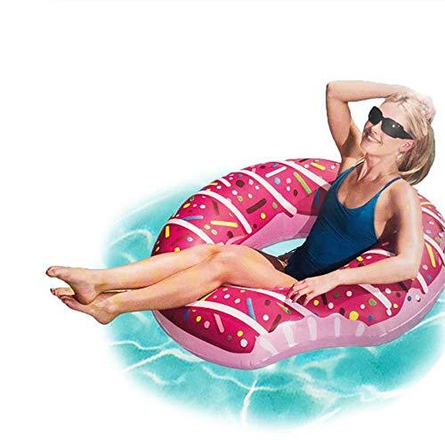 SISHUINIANHUA Dona Inflable Anillo de natación Piscina Gigante Flotador Círculo Playa Mar Fiesta Inflable Colchón Agua Adulto Niño Caliente,Pink,60cm