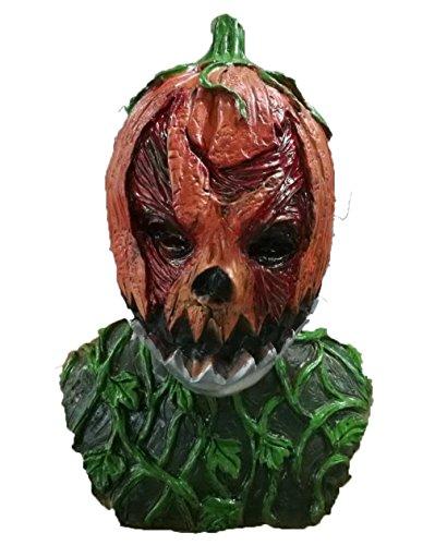 Rubber Johnnies TM Effrayant Citrouille Masque de tête Film Horreur Accessoire Déguisement Halloween