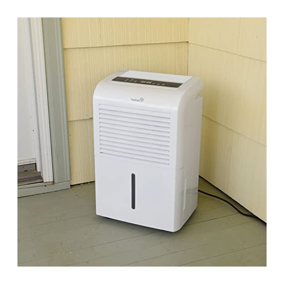 Ivation 4,500 sq ft energy star dehumidifier, large capacity compressor dehumidifier includes programmable humidistat… 6 this compressor dehumidifier keeps spaces up to 4,500 sq. Ft. Cool & comfortable by removing 50 pints of moisture/day (70 pint according to the old doe standards, in 2019 this was classified as 70 pint and it now needs to be classified as 50 pint but it removed the same moisture as the old 70 pint) built-in humidity sensor - the lcd accurately displays the current humidity level in the room, enabling you to set your ideal levels for automatic moisture control low maintenance & easy operation; simply plug-in, select settings & empty 2. 25 gallon reservoir