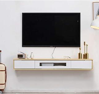 FHKBB Étagère Flottante Meuble TV Mural Armoire de Rangement pour clapier Flottant Rangement multimédia Console TV Centre ...