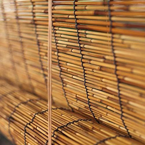 LIUU Bambusrollo Natür Schilf Vorhang Bambus Rollo Jalousine Bambus Raffrollo Bambusvorhang Holzjalousie Für Den Innen - Und Außenbereich,Anpassbar