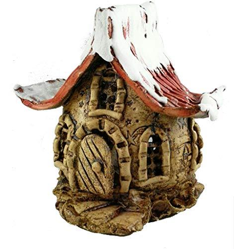Keramik Windlicht Winterwichtelhaus Gartendeko Winter