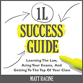 The 1L Success Guide     Learning the Law, Acing Your Exams, and Getting to the Top of Your Class, Law School Success Guides              By:                                                                                                                                 Matt Racine                               Narrated by:                                                                                                                                 Duane Sharp                      Length: 1 hr and 26 mins     34 ratings     Overall 4.3