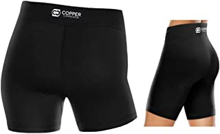 Copper Compression Womens Shorts - Tight Spandex Short for Women Highest Copper