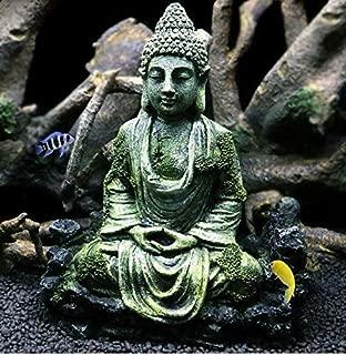 FidgetKute Fish Tank Buddha Sitting Statue Aquarium Decorations Reptiles Tank Ornament