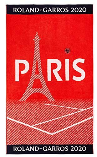 Roland Garros strandhanddoek, groot, officiële collectie 2020
