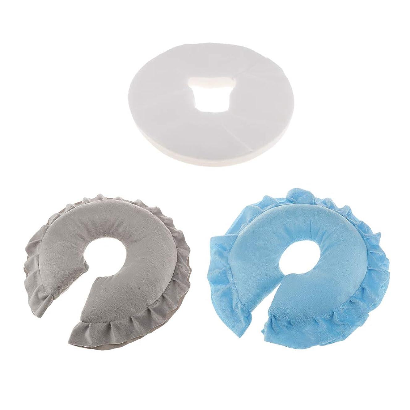 作る怠感心理的dailymall 2x美容院のマッサージの顔の揺りかごの枕+100の使い捨て可能なクッションカバー