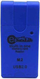 قارئ بطاقات الذاكرة يو إس بي  من إداتا لايف، أزرق