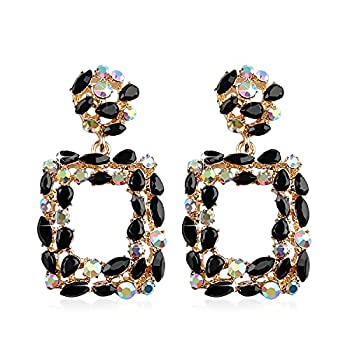 Statement Earrings for Women Fashion with Dangling Rhinestone,Aretes De Mujer De Moda,Costume Colorful Jewelry Stud Earring by Holylove