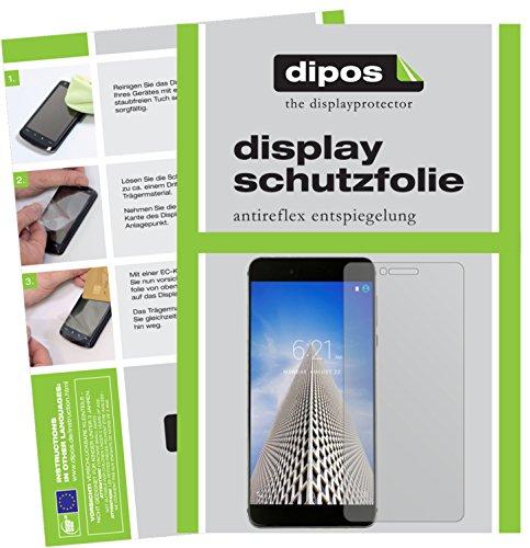 dipos I 2X Schutzfolie matt kompatibel mit Vernee Mars Pro Folie Bildschirmschutzfolie