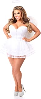 Women's Lavish 4 Pc White Angel Corset Costume