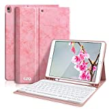 iPad Pro 10.5 Keyboard Case with Built-in Pencil Holder, Keyboard Case for iPad Air 3 10.5' 2019 (3rd Gen)/iPad Pro 10.5' 2017- Detachable Bluetooth Keyboard, Magnetic Leather Cover(Pink)