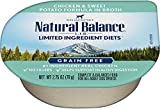 Natural Balance L.I.D. Limited Ingredient Diets Wet Dog Food, Chicken & Sweet Potato Formula in Broth, 2.75 Ounce Cup (Pack of 24)