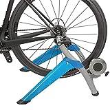 QXT Entrenador de Bicicleta de Interior,Soporte de Entrenador de Ejercicio estacionario, Soporte de Ciclismo portátil con Protector contra el Sudor/liberación rápida/Bloque Elevador